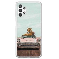 ELLECHIQ Samsung Galaxy A32 5G siliconen hoesje - Chill tijger