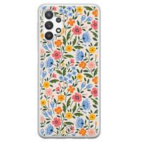 Telefoonhoesje Store Samsung Galaxy A32 5G siliconen hoesje - Romantische bloemen
