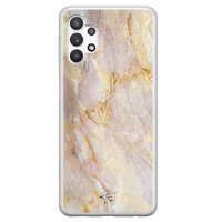 ELLECHIQ Samsung Galaxy A32 5G siliconen hoesje - Stay Golden Marble