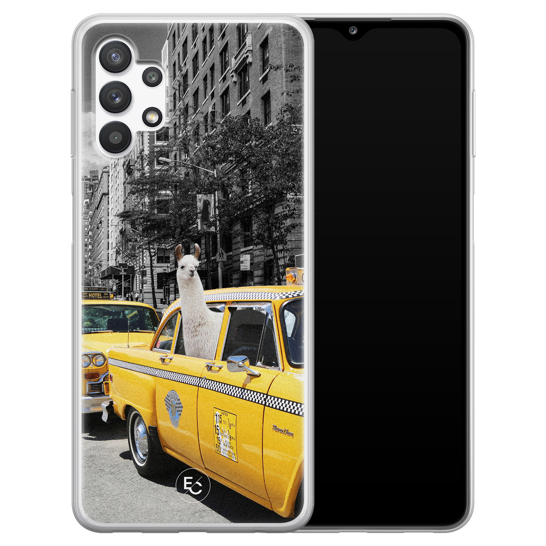 ELLECHIQ Samsung Galaxy A32 5G siliconen hoesje - Lama in taxi