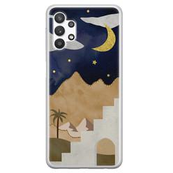 Leuke Telefoonhoesjes Samsung Galaxy A32 5G siliconen hoesje - Desert night