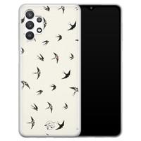 Telefoonhoesje Store Samsung Galaxy A32 5G siliconen hoesje - Freedom birds