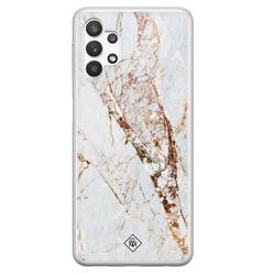 Casimoda Samsung Galaxy A32 5G siliconen hoesje - Marmer goud