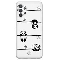 Telefoonhoesje Store Samsung Galaxy A32 5G siliconen hoesje - Panda