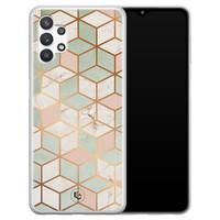 ELLECHIQ Samsung Galaxy A32 5G siliconen hoesje - Pastel Kubus
