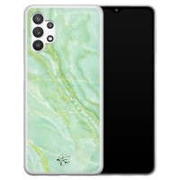 Telefoonhoesje Store Samsung Galaxy A32 5G siliconen hoesje - Marmer Limegroen