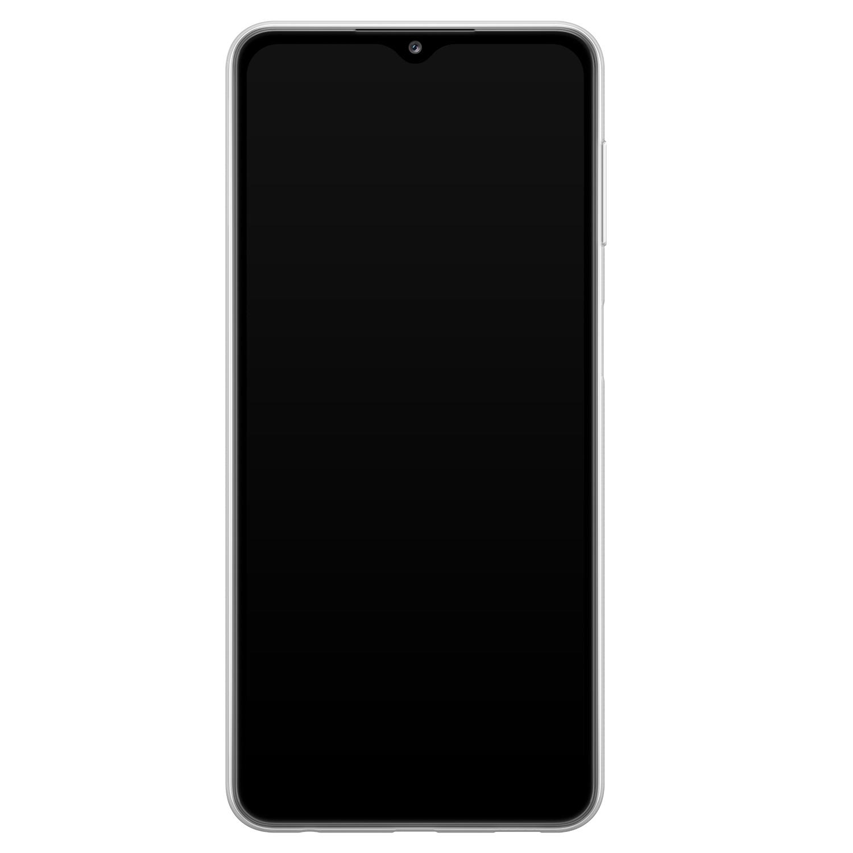 ELLECHIQ Samsung Galaxy A32 5G siliconen hoesje - Marble Khaki Swirl
