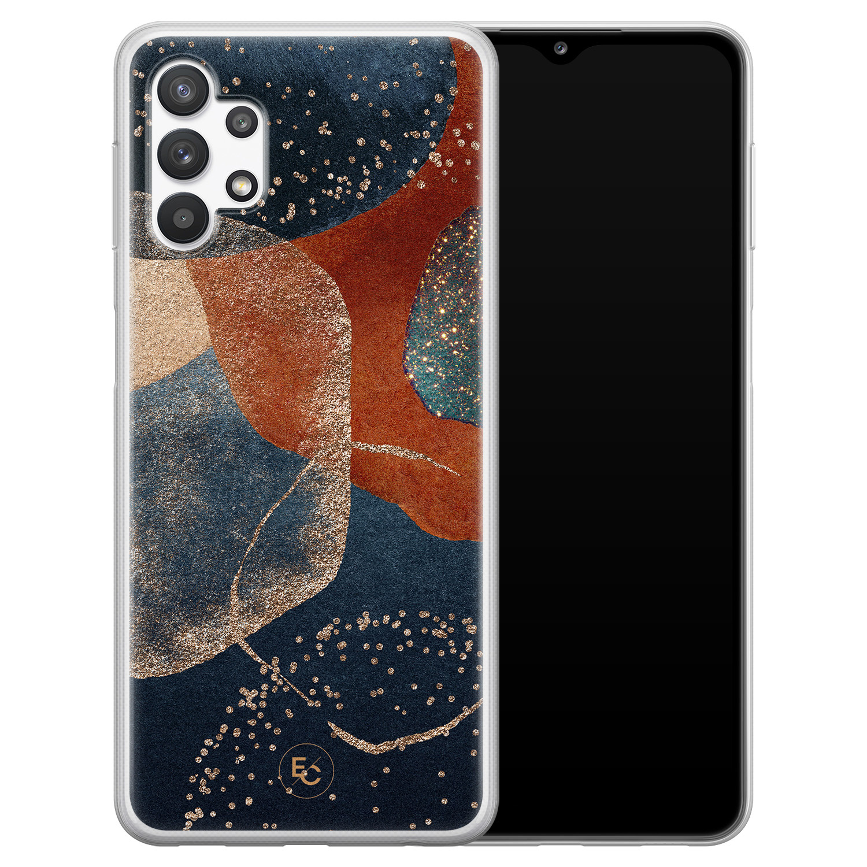 ELLECHIQ Samsung Galaxy A32 5G siliconen hoesje - Abstract Terracotta