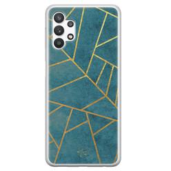 Telefoonhoesje Store Samsung Galaxy A32 5G siliconen hoesje - Abstract blauw