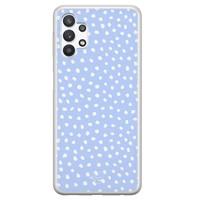 Telefoonhoesje Store Samsung Galaxy A32 5G siliconen hoesje - Purple dots