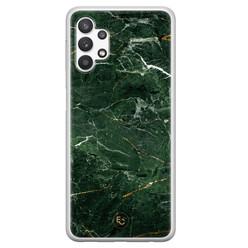 ELLECHIQ Samsung Galaxy A32 5G siliconen hoesje - Marble jade green