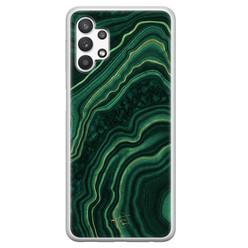 Telefoonhoesje Store Samsung Galaxy A32 5G siliconen hoesje - Agate groen