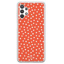 Telefoonhoesje Store Samsung Galaxy A32 5G siliconen hoesje - Orange dots
