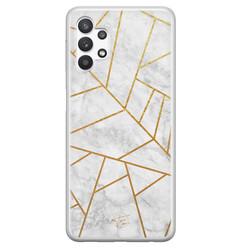 Telefoonhoesje Store Samsung Galaxy A32 5G siliconen hoesje - Geometrisch marmer
