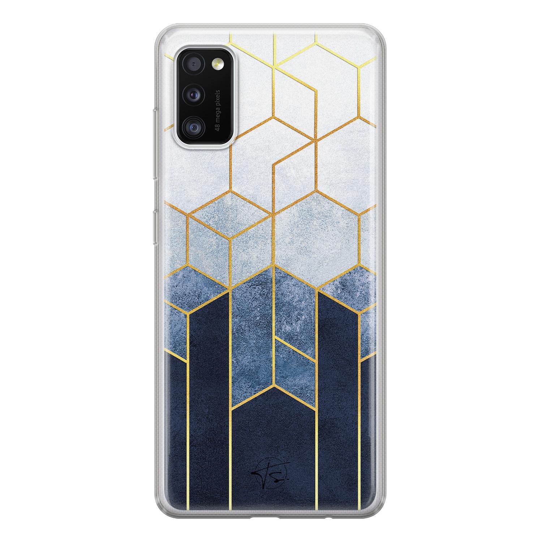 Telefoonhoesje Store Samsung Galaxy A41 siliconen hoesje - Geometrisch fade art