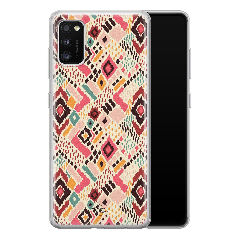 Telefoonhoesje Store Samsung Galaxy A41 siliconen hoesje - Boho vibes