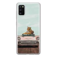 ELLECHIQ Samsung Galaxy A41 siliconen hoesje - Chill tijger