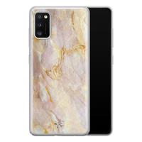 ELLECHIQ Samsung Galaxy A41 siliconen hoesje - Stay Golden Marble