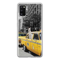 ELLECHIQ Samsung Galaxy A41 siliconen hoesje - Lama in taxi