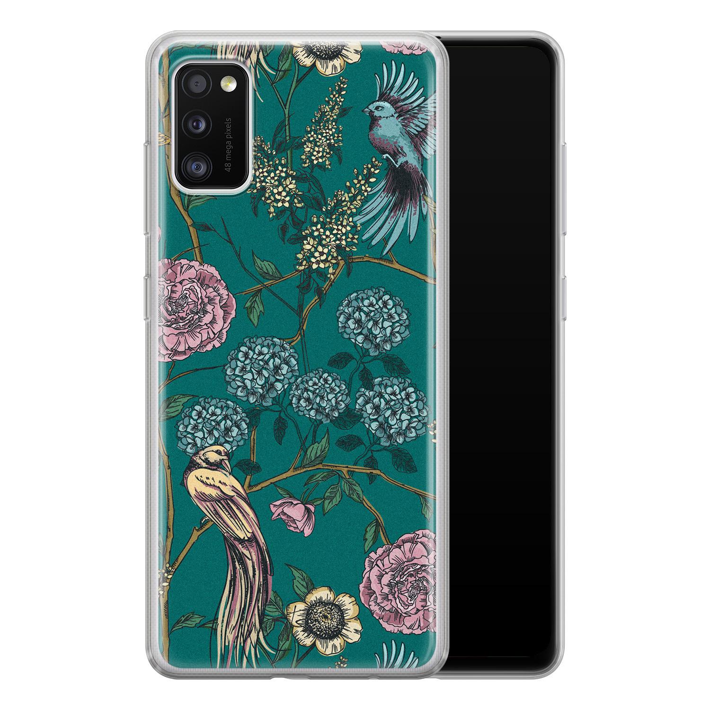 Telefoonhoesje Store Samsung Galaxy A41 siliconen hoesje - Bloomy birds