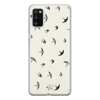 Telefoonhoesje Store Samsung Galaxy A41 siliconen hoesje - Freedom birds