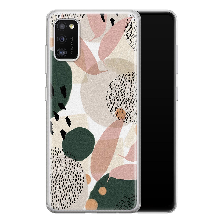 Leuke Telefoonhoesjes Samsung Galaxy A41 siliconen hoesje - Abstract print