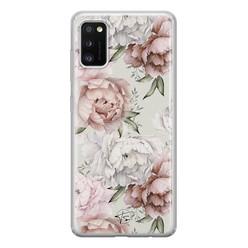 Telefoonhoesje Store Samsung Galaxy A41 siliconen hoesje - Classy flowers