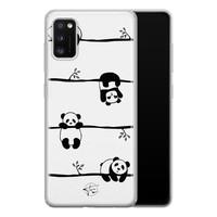 Telefoonhoesje Store Samsung Galaxy A41 siliconen hoesje - Panda