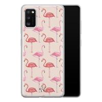 Telefoonhoesje Store Samsung Galaxy A41 siliconen hoesje - Flamingo