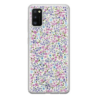 Telefoonhoesje Store Samsung Galaxy A41 siliconen hoesje - Purple Garden