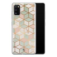 ELLECHIQ Samsung Galaxy A41 siliconen hoesje - Pastel Kubus