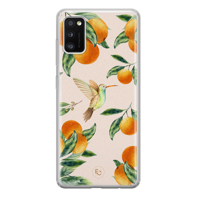 ELLECHIQ Samsung Galaxy A41 siliconen hoesje - Tropical Lemonade