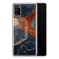ELLECHIQ Samsung Galaxy A41 siliconen hoesje - Abstract Terracotta