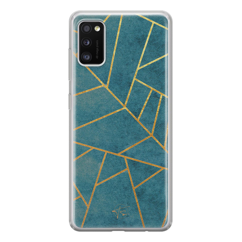 Telefoonhoesje Store Samsung Galaxy A41 siliconen hoesje - Abstract blauw