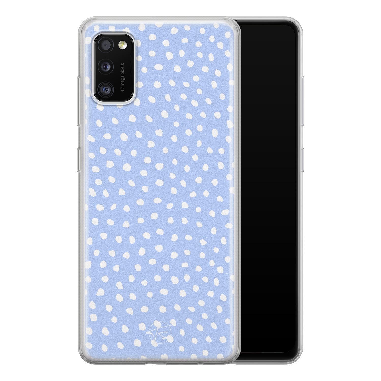 Telefoonhoesje Store Samsung Galaxy A41 siliconen hoesje - Purple dots
