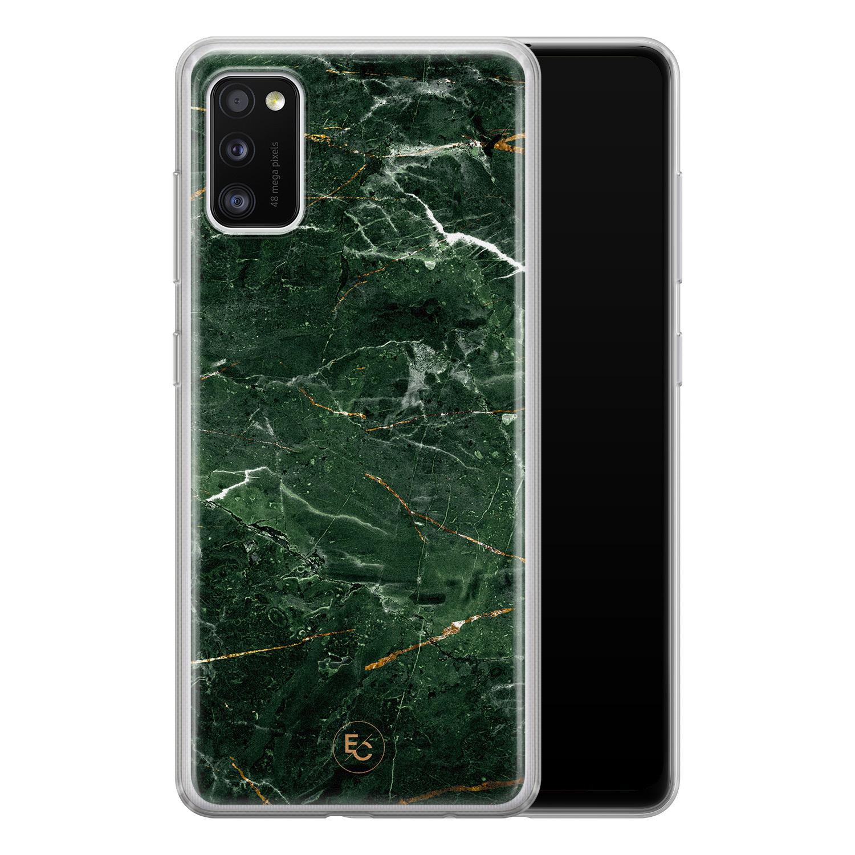 ELLECHIQ Samsung Galaxy A41 siliconen hoesje - Marble jade green