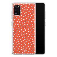 Telefoonhoesje Store Samsung Galaxy A41 siliconen hoesje - Orange dots