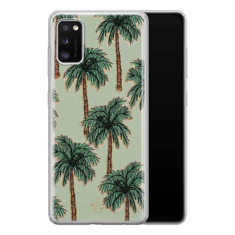 Telefoonhoesje Store Samsung Galaxy A41 siliconen hoesje - Palmbomen