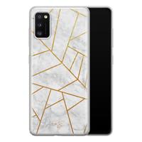 Telefoonhoesje Store Samsung Galaxy A41 siliconen hoesje - Geometrisch marmer