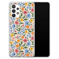 Telefoonhoesje Store Samsung Galaxy A32 4G siliconen hoesje - Romantische bloemen