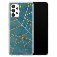Telefoonhoesje Store Samsung Galaxy A32 4G siliconen hoesje - Abstract blauw