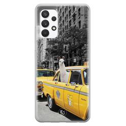 ELLECHIQ Samsung Galaxy A32 4G siliconen hoesje - Lama in taxi