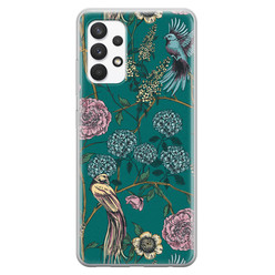 Telefoonhoesje Store Samsung Galaxy A32 4G siliconen hoesje - Bloomy birds
