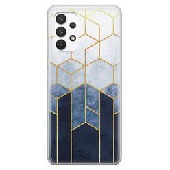 Telefoonhoesje Store Samsung Galaxy A32 4G siliconen hoesje - Geometrisch fade art