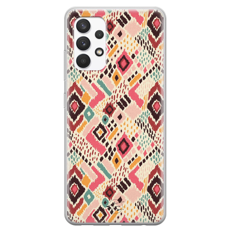 Telefoonhoesje Store Samsung Galaxy A32 4G siliconen hoesje - Boho vibes