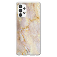ELLECHIQ Samsung Galaxy A32 4G siliconen hoesje - Stay Golden Marble