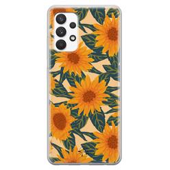 Telefoonhoesje Store Samsung Galaxy A32 4G siliconen hoesje - Zonnebloemen