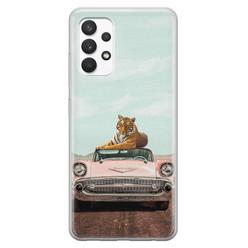 ELLECHIQ Samsung Galaxy A32 4G siliconen hoesje - Chill tijger