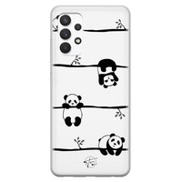 Telefoonhoesje Store Samsung Galaxy A32 4G siliconen hoesje - Panda