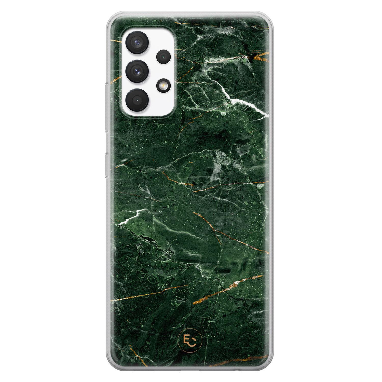 ELLECHIQ Samsung Galaxy A32 4G siliconen hoesje - Marble jade green